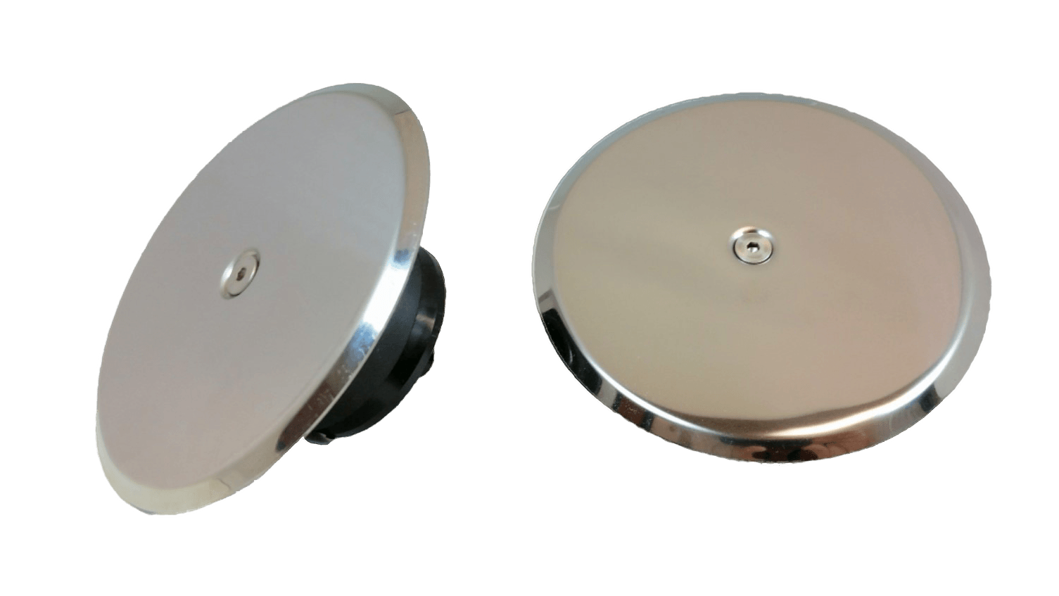 Chrome expansion plugs come with a chrome top, so they look good wherever you put them